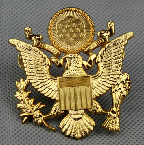 WWII US ARMY OFFICER CAP EAGLE BADGE INSIGNIA HAT -A05 | eBay