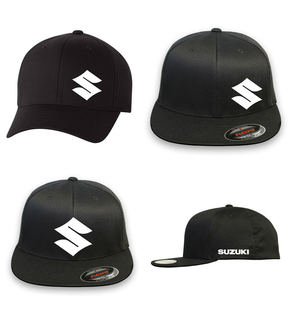 Suzuki Motorcycle Racing Flex Fit HAT CURVED Or FLAT BILL
