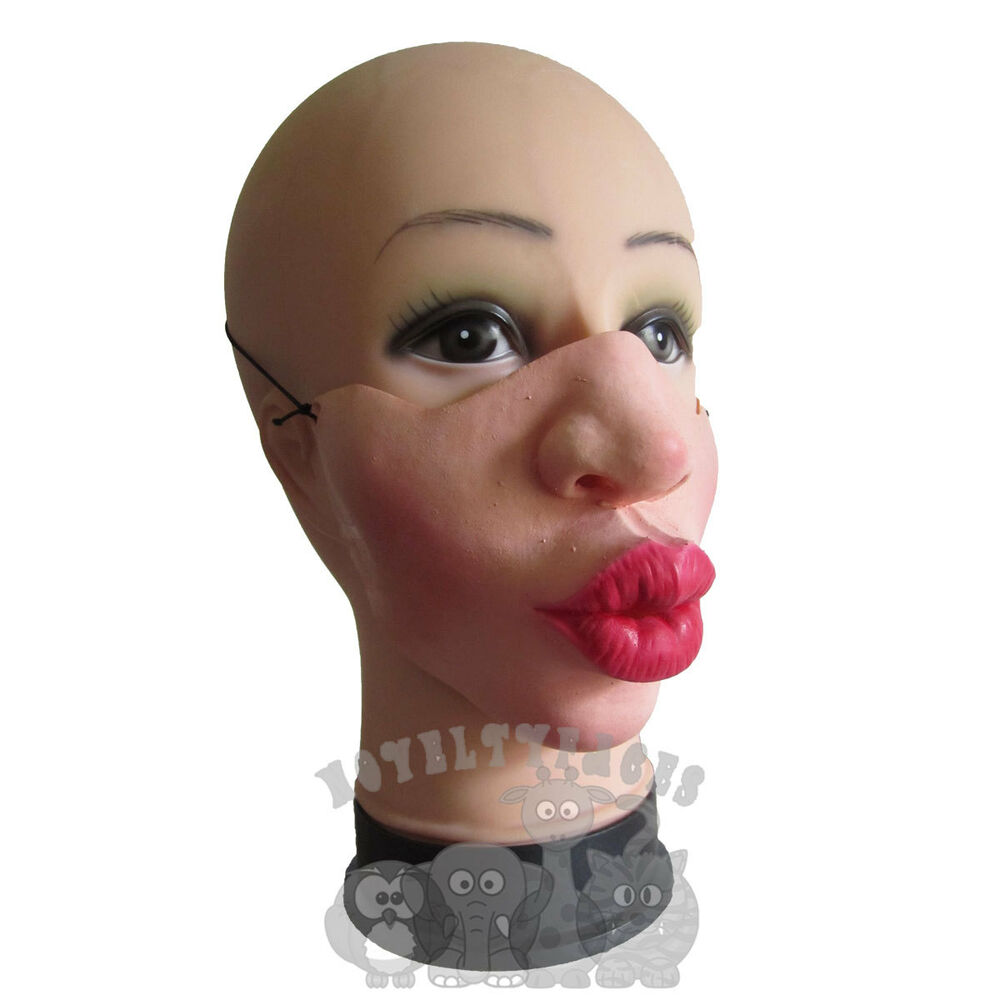 Latex Comedy Funny Faces Half Face Puckered Lips Party