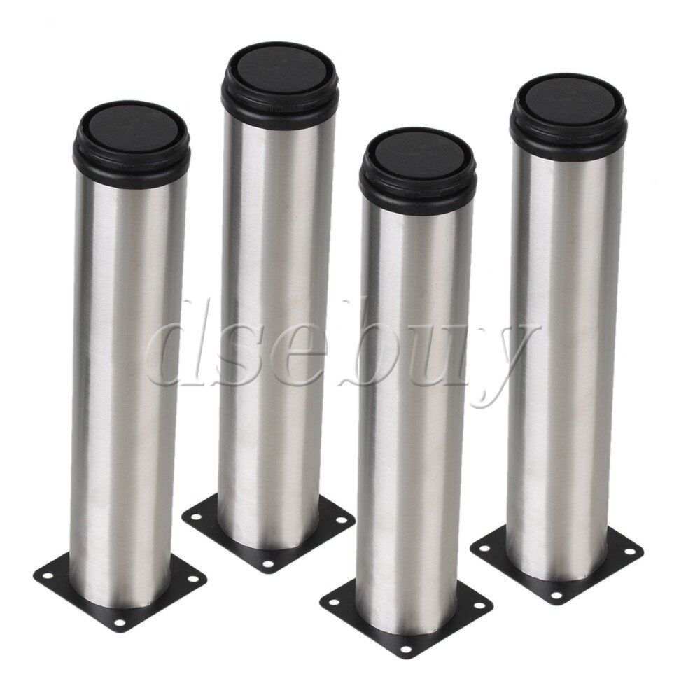 4pcs 250mm height metal furniture legs adjustable cabinet