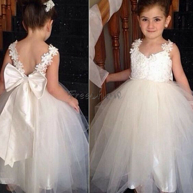 Flower Girl Dress Wedding Birthday Party Pageant Formal