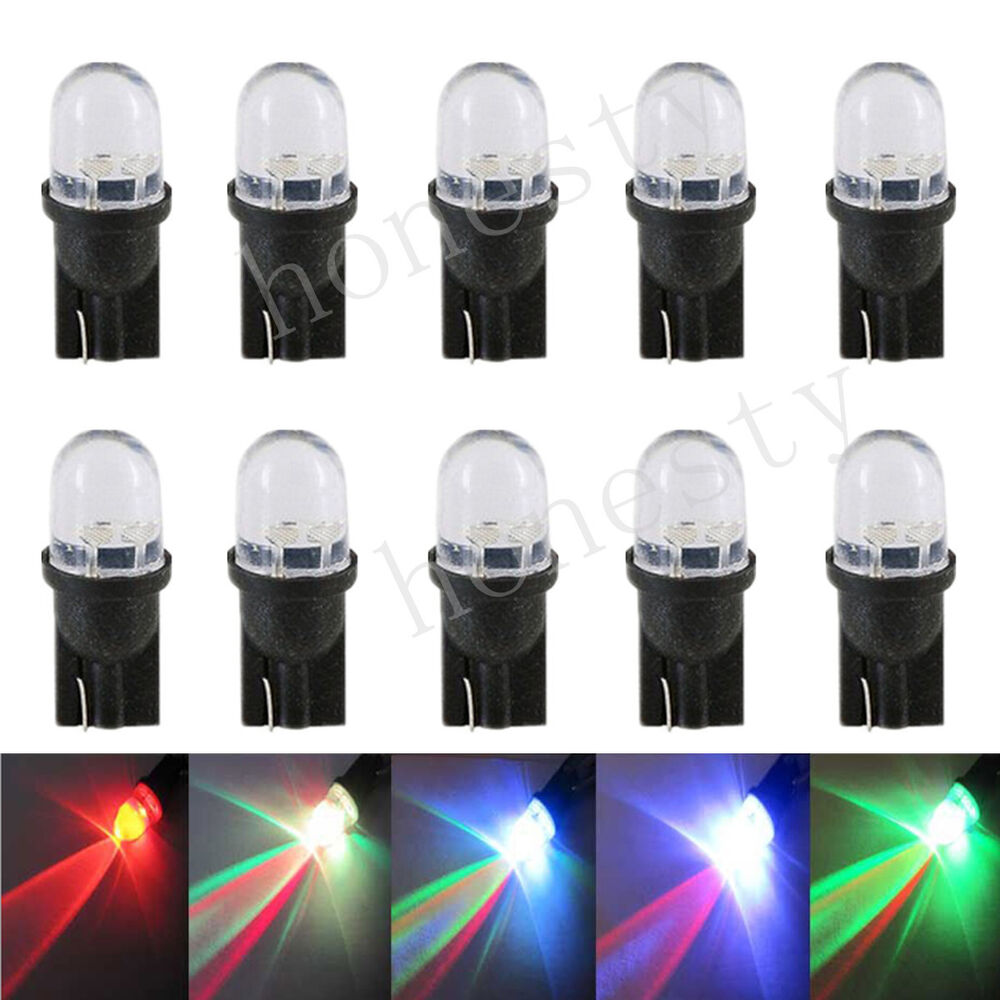 10pcs t10 w5w 194 168 501 led multi color red green blue flash car light bulbs ebay. Black Bedroom Furniture Sets. Home Design Ideas