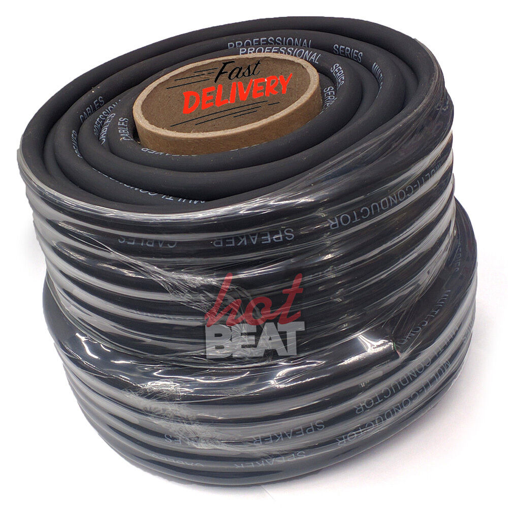 100 ft foot roll 12 gauge ga multi conductor pa high power speaker cable 4 wire ebay. Black Bedroom Furniture Sets. Home Design Ideas