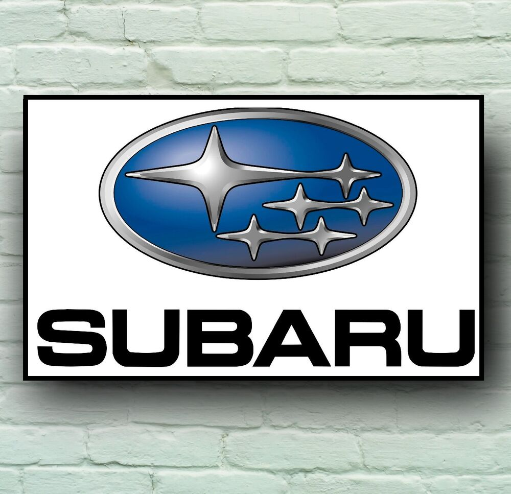 SUBARU LOGO 2FT LARGE GARAGE SIGN WALL PLAQUE CLASSIC