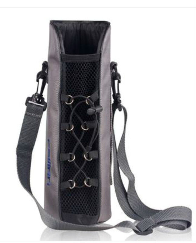 Water Bottle With Strap: Pouch Neoprene Water Bottle Cover Shoulder Strap Bag Case
