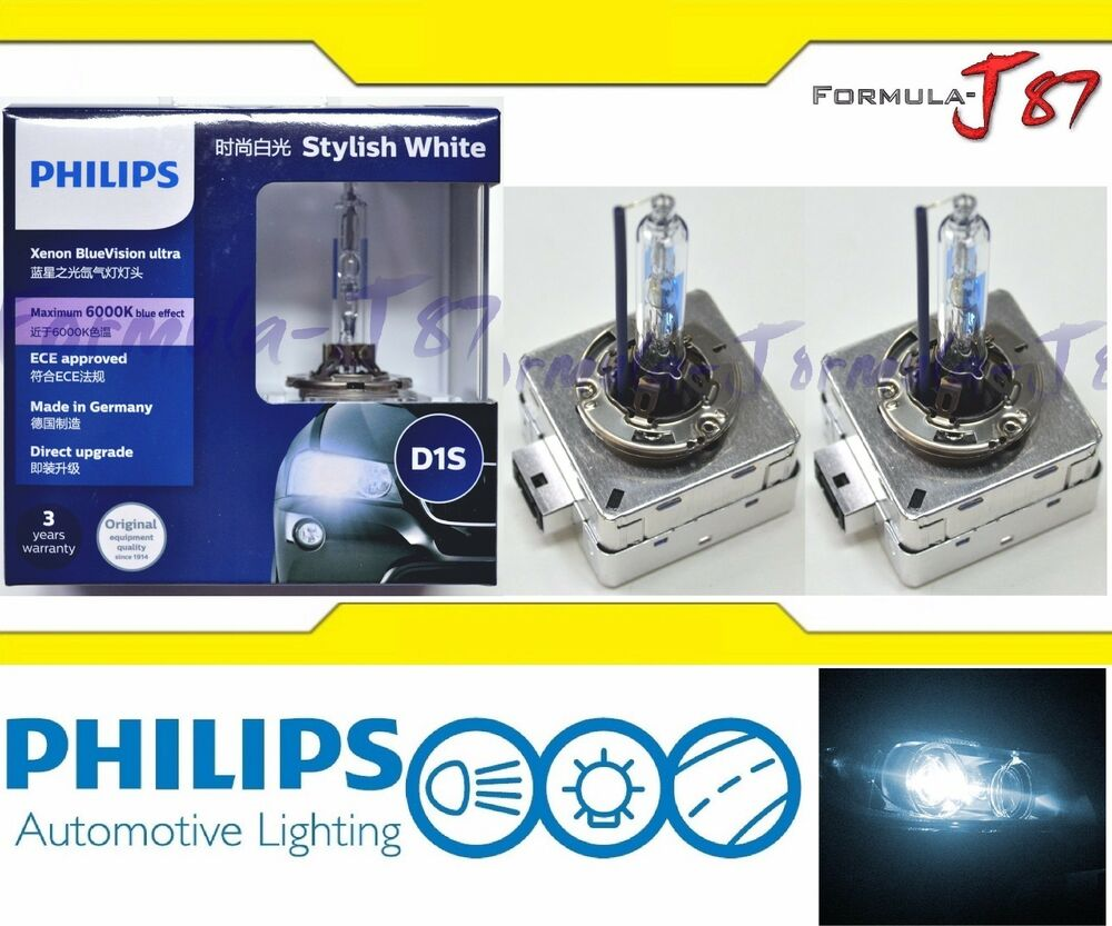 philips hid xenon bulb blue vision white 6000k d1s head. Black Bedroom Furniture Sets. Home Design Ideas