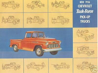 1956 chevrolet pick up truck sales brochure ebay for Kitchen 88 food truck utah menu