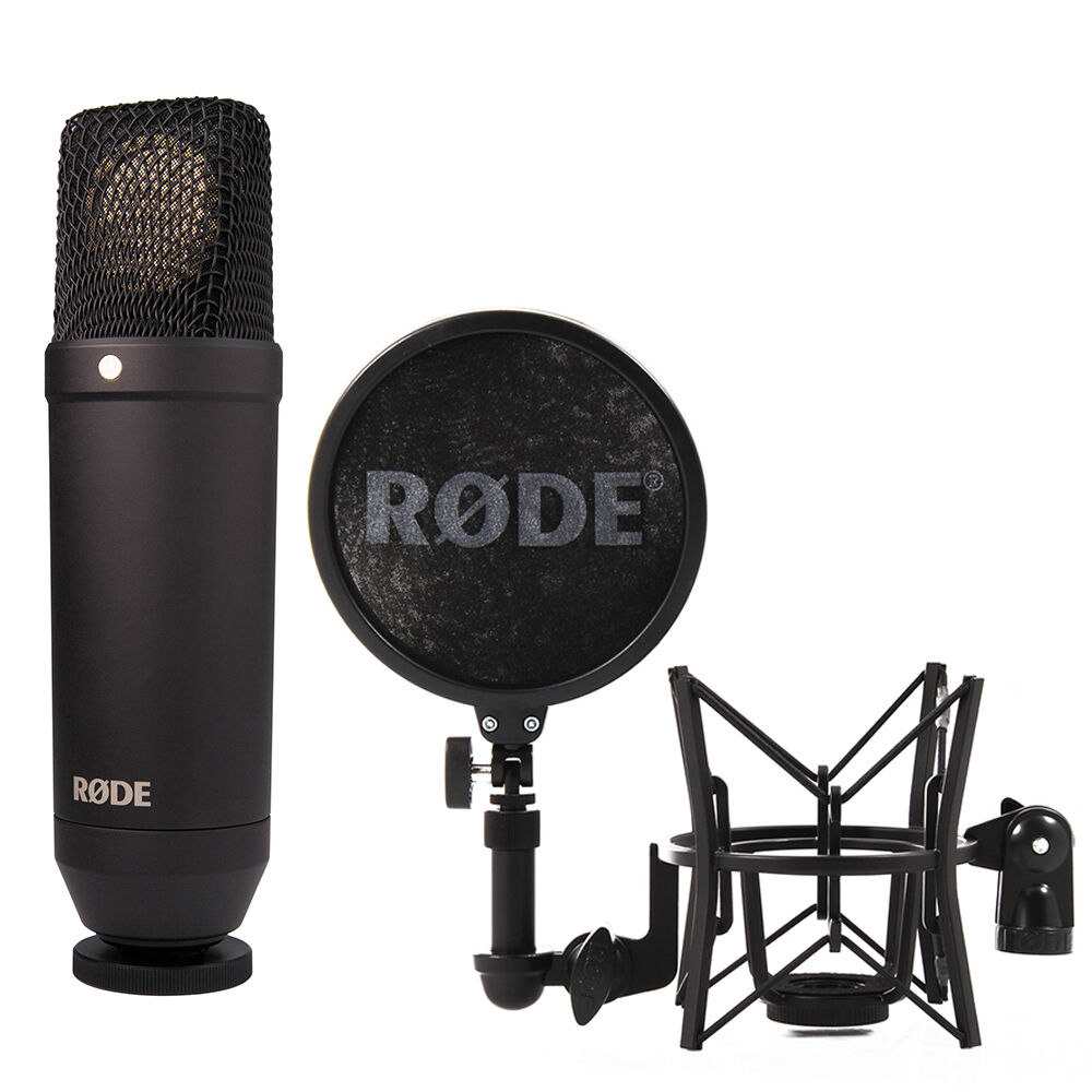 rode nt1 cardioid condenser microphone with free rode sm6 shockmount 698813003372 ebay. Black Bedroom Furniture Sets. Home Design Ideas
