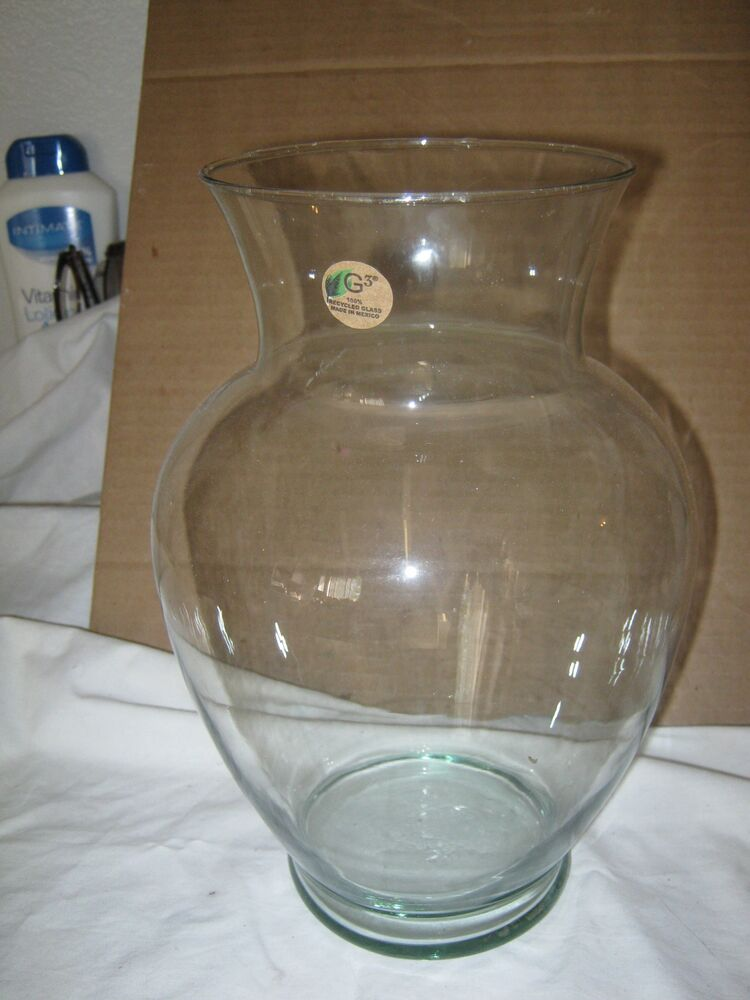 Tall Round Shaped Clear Vase Glass | eBay