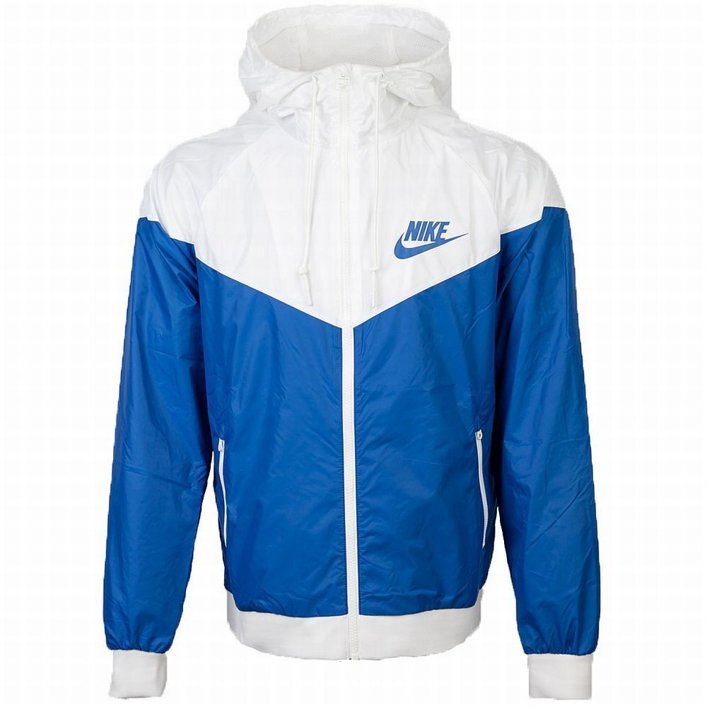 Nike Windrunner Hoody Jacket Blue White Windbreaker