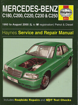 94 1995 1996 1997 1998 1999 2000 mercedes c180 c200 c220 for Mercedes benz online repair manual