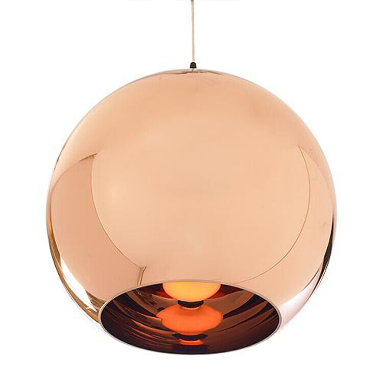 tom dixon copper mirror glass ball pendant lamp ceiling. Black Bedroom Furniture Sets. Home Design Ideas