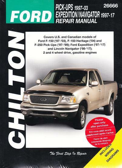 1997-2003 ford f150, f250 97-17 expedition navigator repair service manual  23106 9781620923108 | ebay