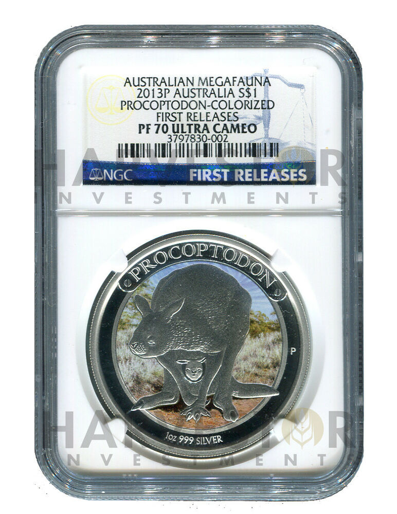 **NEW COIN #1 PROCOPTODON NGC  PF70 FIRST RELEASES AUSTRALIAN MEGAFUANA