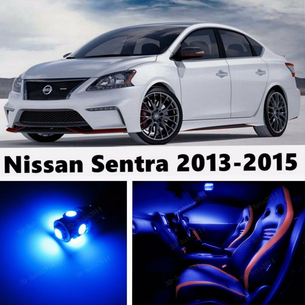 8pcs led blue light interior package kit for nissan sentra 2013 2015 ebay 2015 nissan altima interior lights