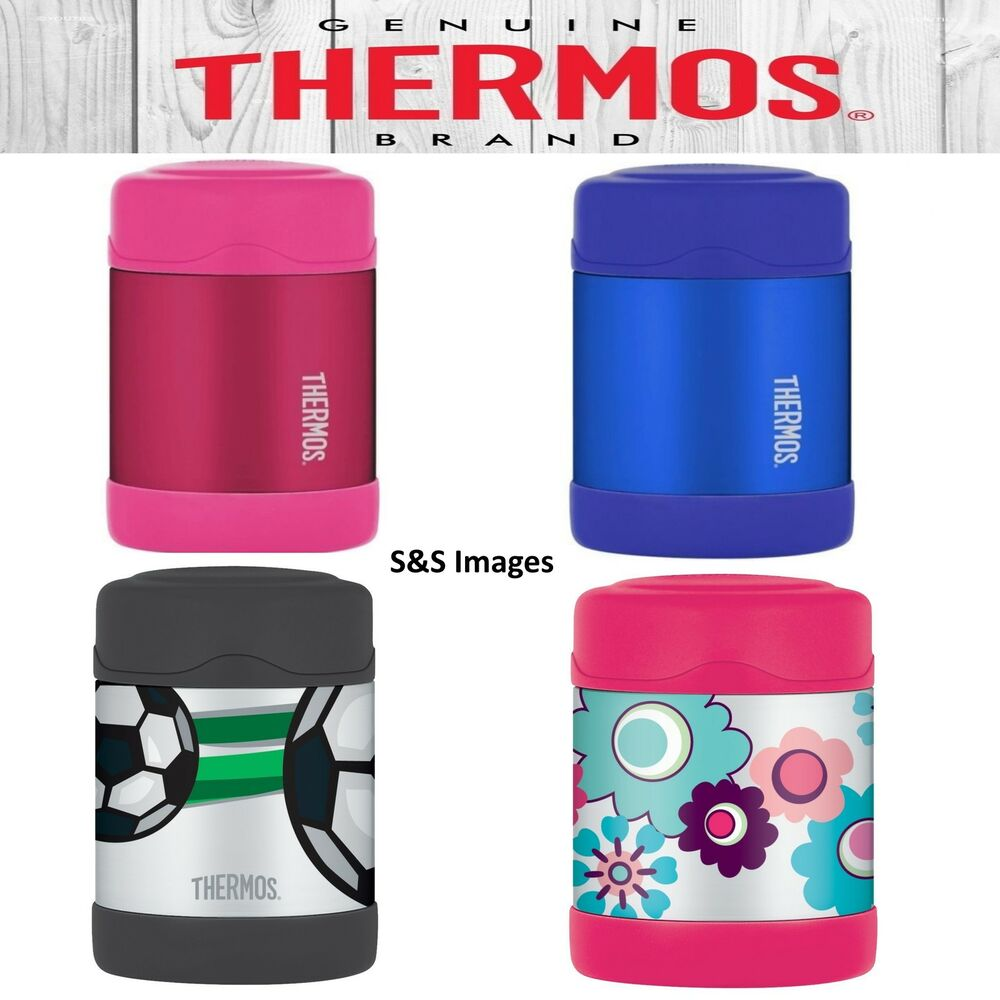 thermos funtainer stainless steel insulated food flask for kids 290ml lunch box ebay. Black Bedroom Furniture Sets. Home Design Ideas