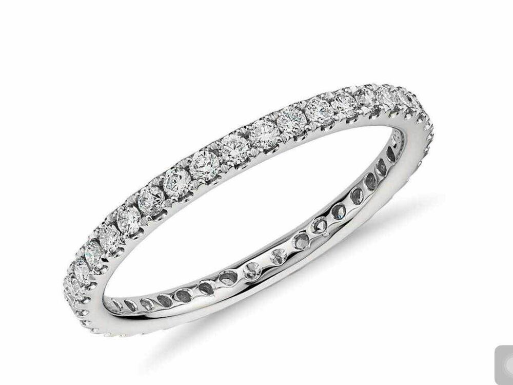 SALE WEDDING ENGAGEMENT RING Riviera Pave Diamond Eternity Ring In 14K GOLD