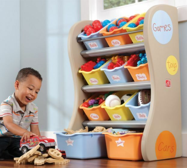 A Ton Of Rooms With Colorful Toys: Colorful Room Toy Organizer Storage Center Kids Fun Toy