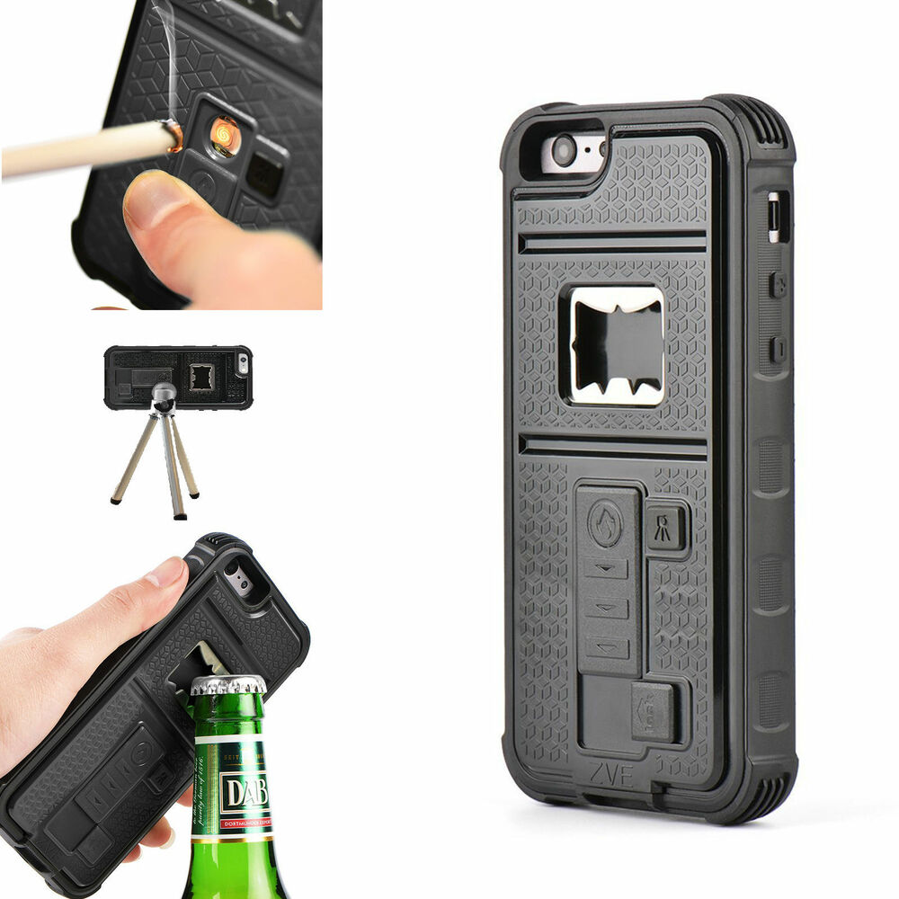 built in cigarette xly lighter bottle opener shockproof case for iphone 5s 5g 5 ebay. Black Bedroom Furniture Sets. Home Design Ideas