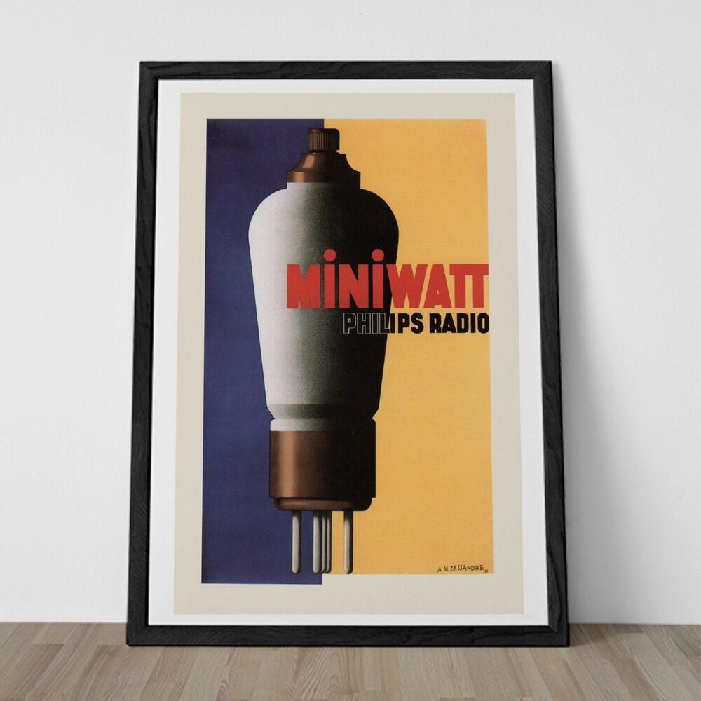 Vintage philips tube poster reproduction classic art for Poster ikea