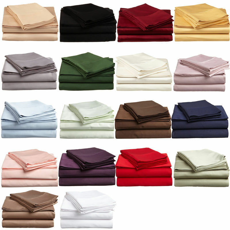 Extra Deep Pocket Expanded Queen 1000tc Egyptian Cotton 4pc Sheet Set All Colors Ebay