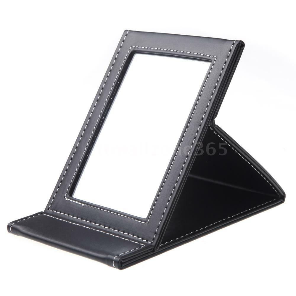 Mini leather folding makeup mirror high quality portable for Mirror quality