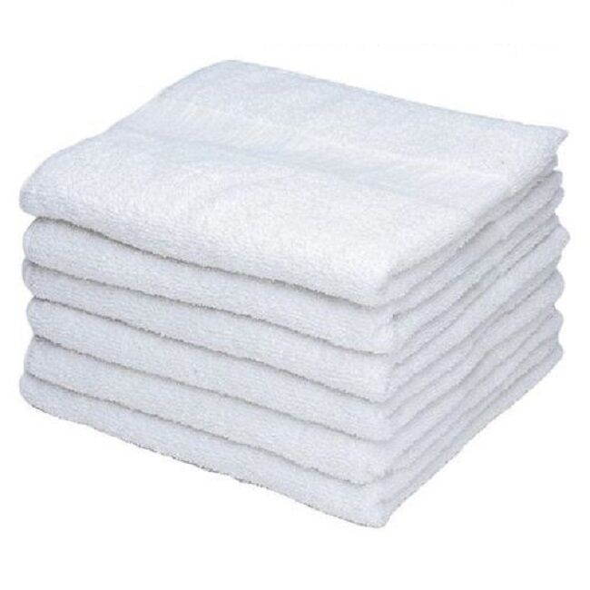 240 New White 100% Cotton 12''x12'' Terry Shop Bar Wiping