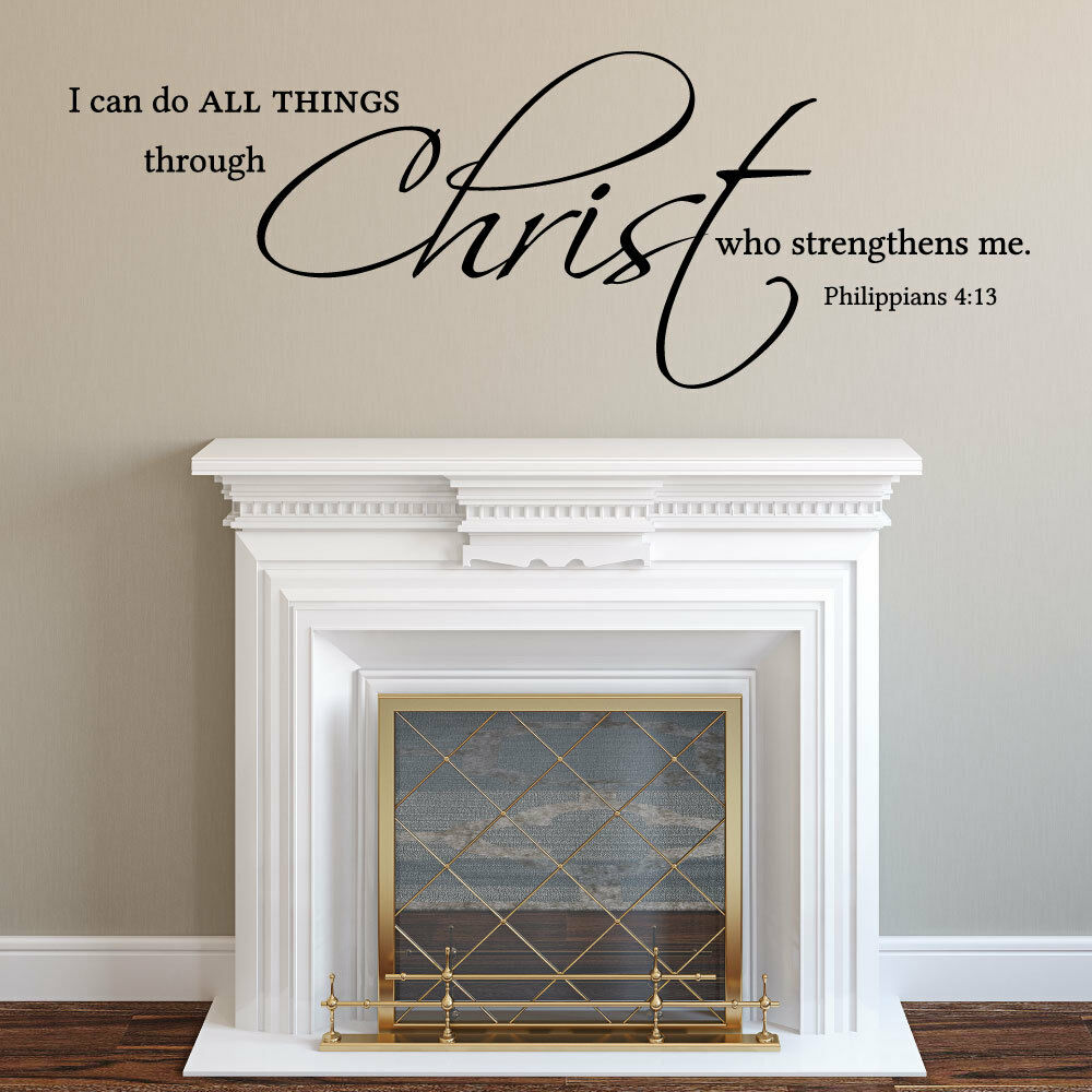 Vinyl Decals Quotes Wall Decal Christian I Can Do All