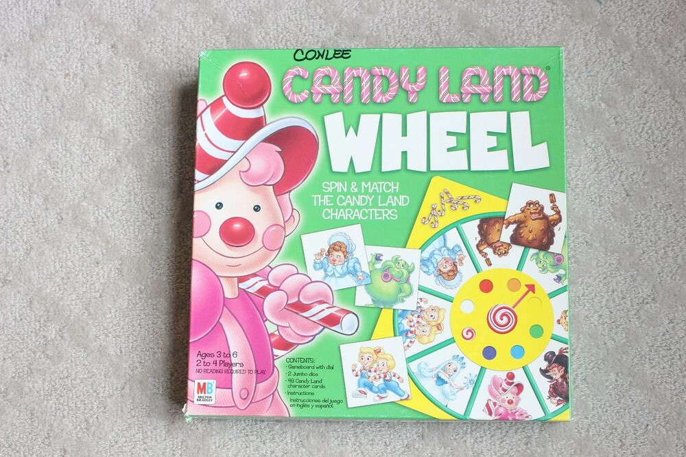 Candy Land Wheel Spin Match Board Game Ebay