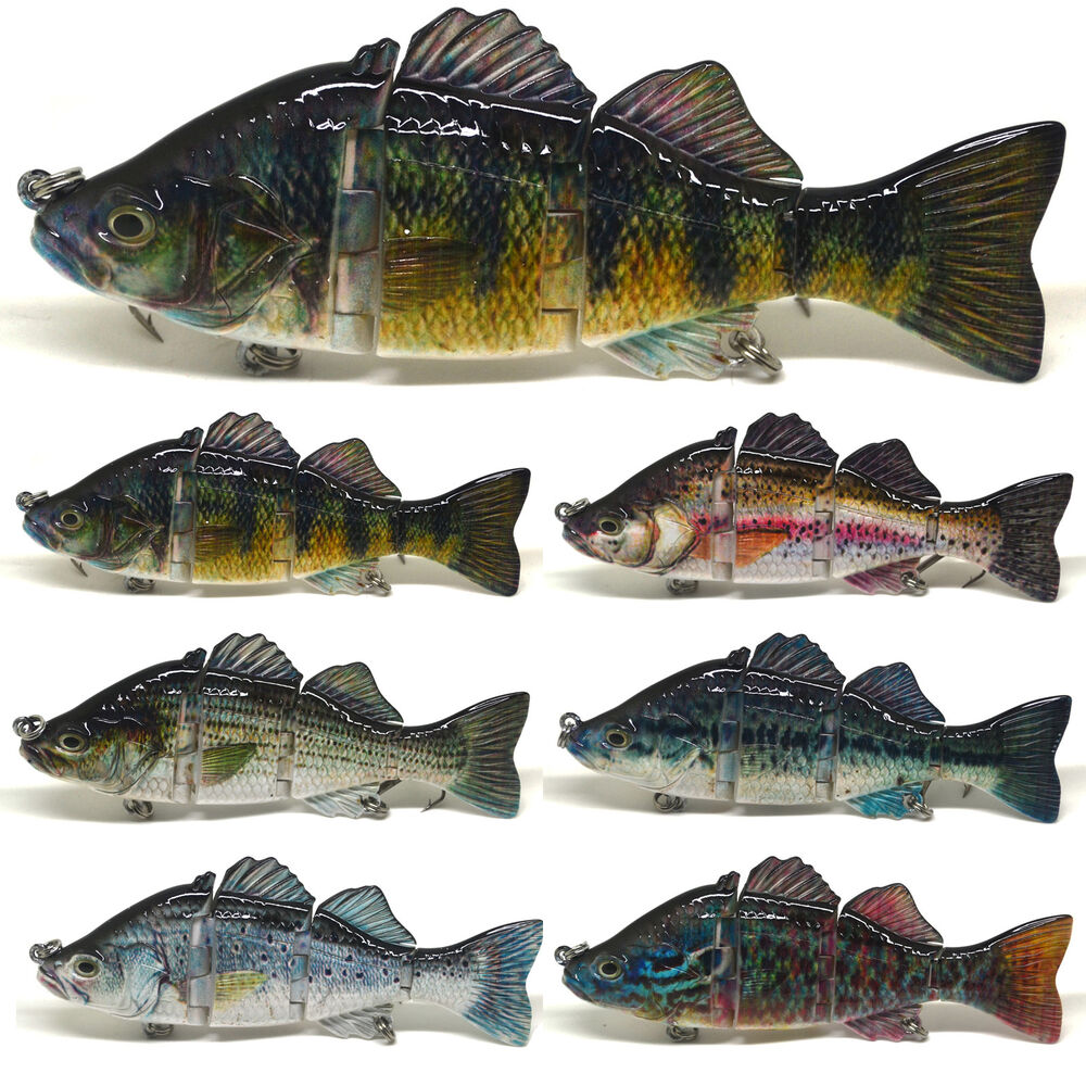 4 6 fishing swimbait lure life like perch rainbow for Crappie fishing tackle