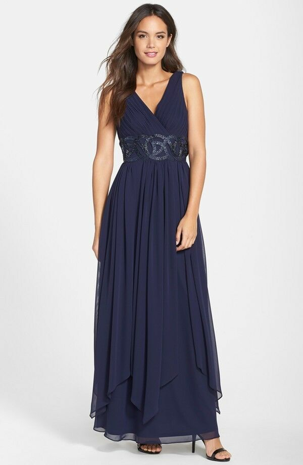 Eliza J Embellished Chiffon Gown Bridesmaid Mother Of The