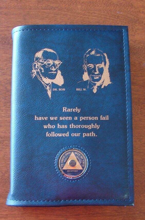 Blue Cover Cookbook : Alcoholics anonymous aa big book founders medallion holder