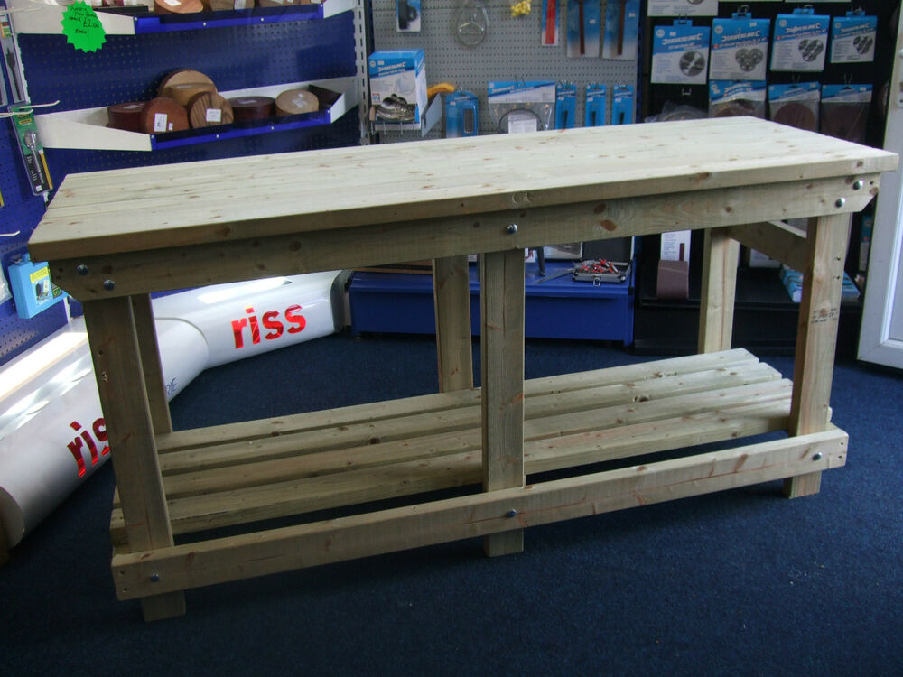 New Hand Made 6ft Solid Heavy Duty Wooden Work Bench Ebay