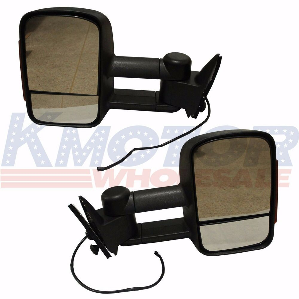 led signal manual towing tow hauling mirror pair 88 98 chevy c k 1500 2500 3500 ebay. Black Bedroom Furniture Sets. Home Design Ideas