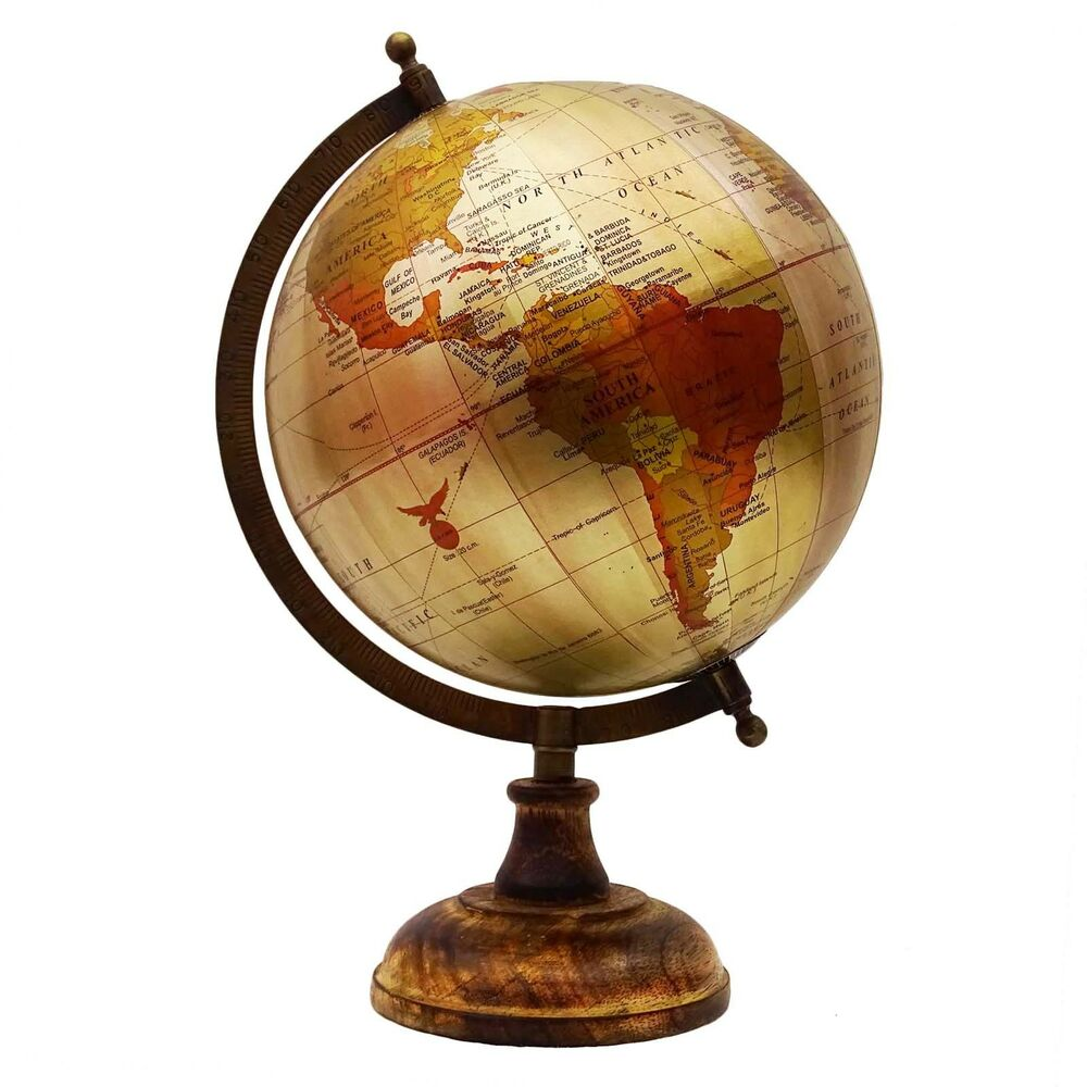big rotating desktop globes earth ocean globe world geography table decor 13 ebay. Black Bedroom Furniture Sets. Home Design Ideas