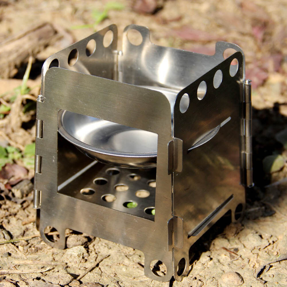 Folding Wood Stove Pocket Alcohol Stove Outdoor Cooking