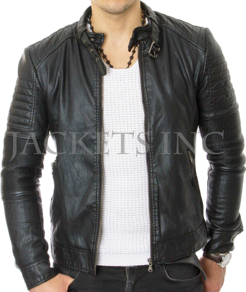 Fitted leather jackets
