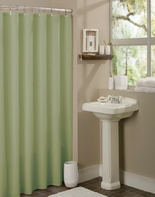Solid Water Repelant Bathroom Shower Curtain Plastic Liner