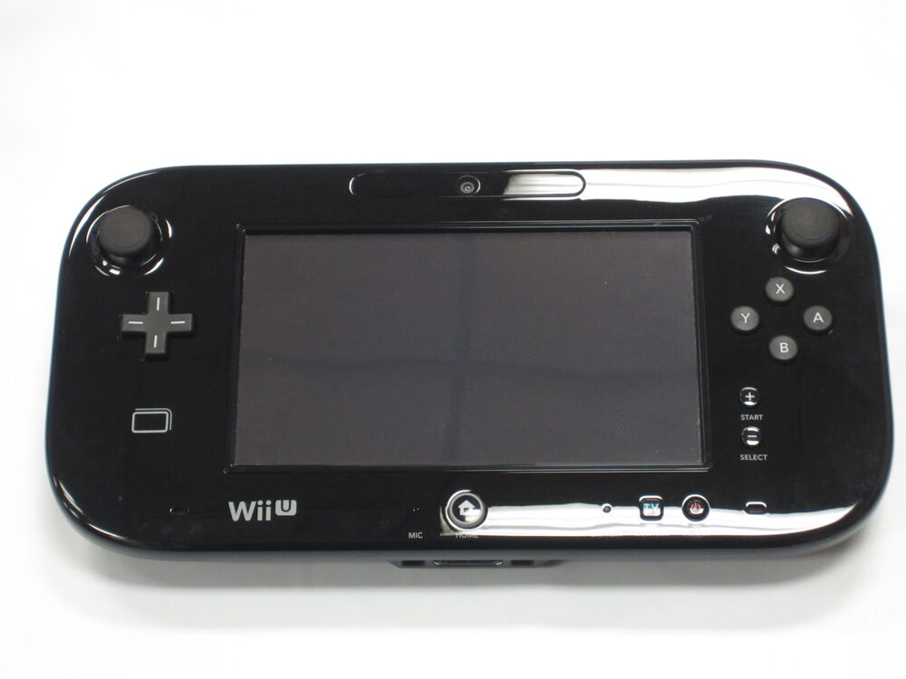 Replacement nintendo wii u gamepad tablet black tested for Nintendo wii u tablet