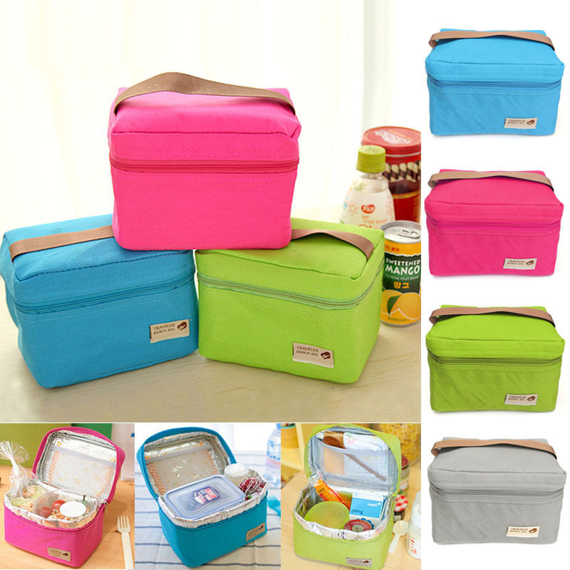 thermal insulated lunch box cooler bag tote bento pouch. Black Bedroom Furniture Sets. Home Design Ideas