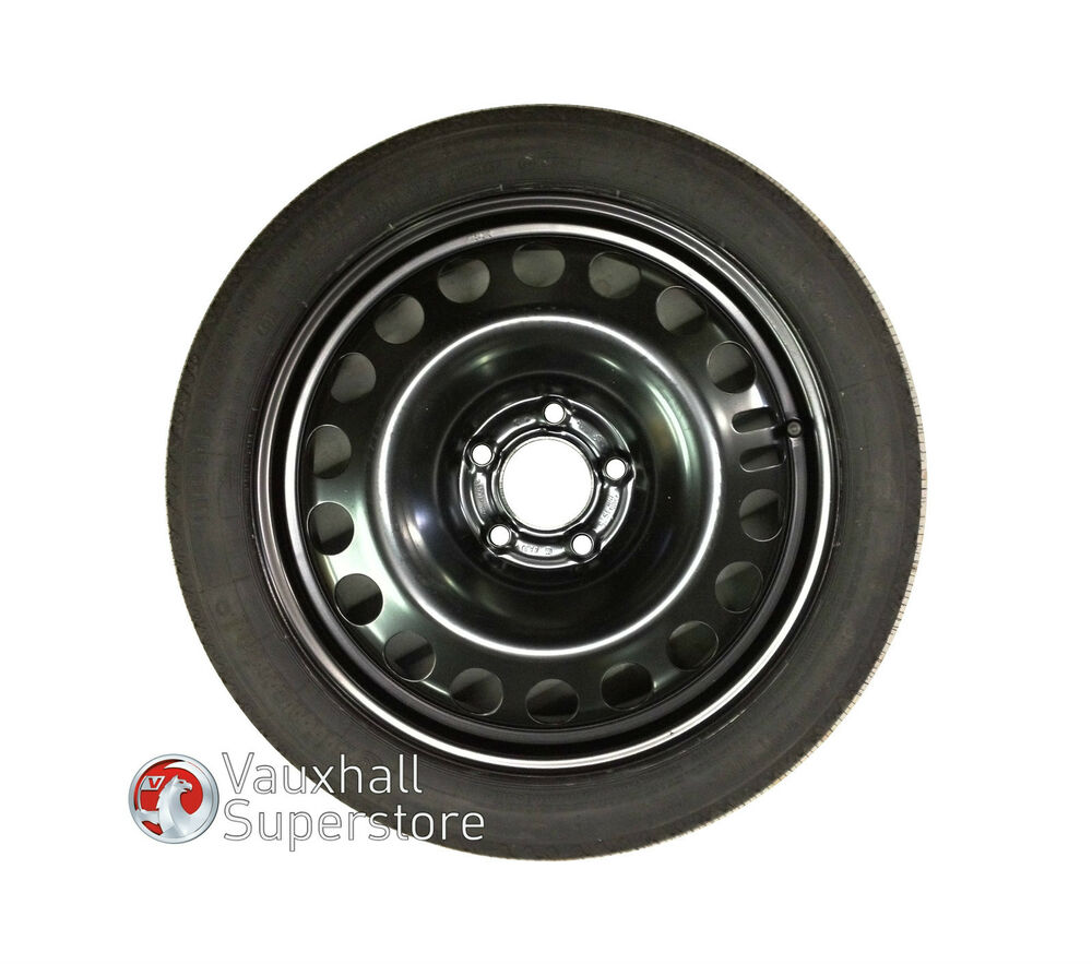 VAUXHALL ASTRA K SPACE SAVER WHEEL & CONTINENTAL TYRE ...