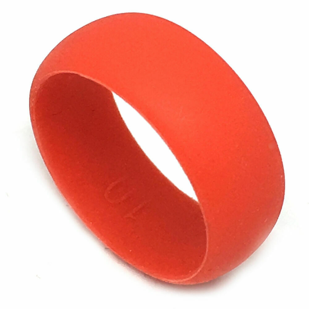 Rubber Wedding Rings For Men >> SAR - SAFE ACTIVE RINGS 8mm Red Flexible Silicon Rubber Wedding Band Ring | eBay
