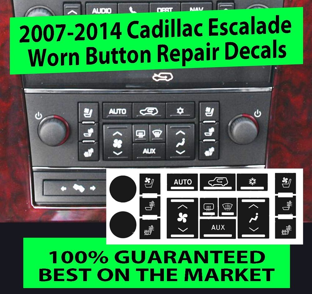 AC Climate Control Button Replacement Stickers 2007-2014 Chevrolet GMC HVAC New