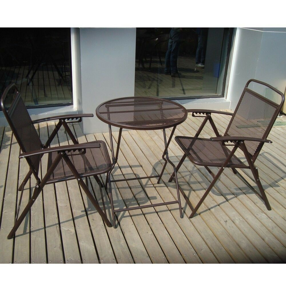 Bistro set patio set table and chairs outdoor furniture for Iron furniture