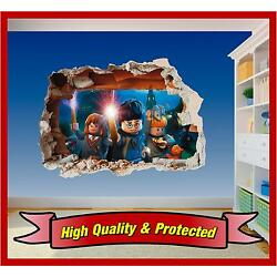 Lego Harry Potter Hole in Wall - Printed Vinyl Sticker Decal Childrens Bedroom