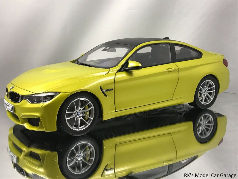 paragon bmw m4 f82 austin yellow model diecast car 1 18 new in box ebay. Black Bedroom Furniture Sets. Home Design Ideas