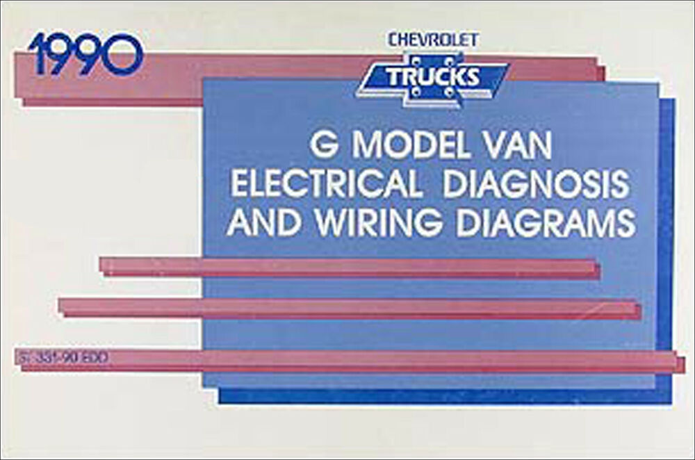 1990 chevy g van wiring diagram manual g10 g20 g30 sportvan rh ebay co uk