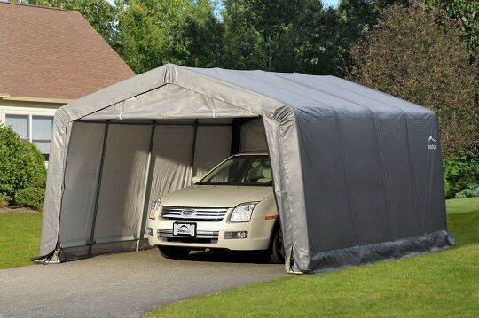 Landowner Garage In A Box : Shelterlogic storage shelter shed portable garage