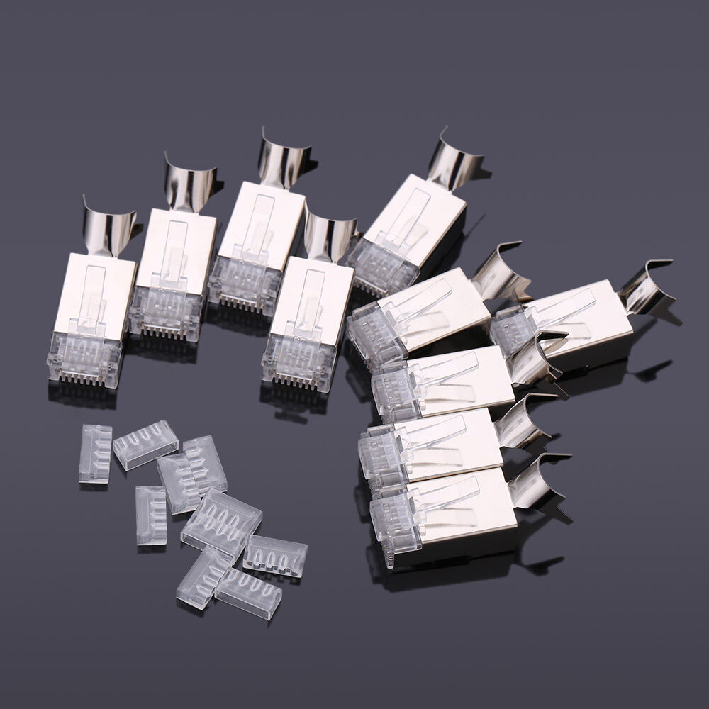 10pcs high quality cat7 rj45 network cable connector 8p8c. Black Bedroom Furniture Sets. Home Design Ideas