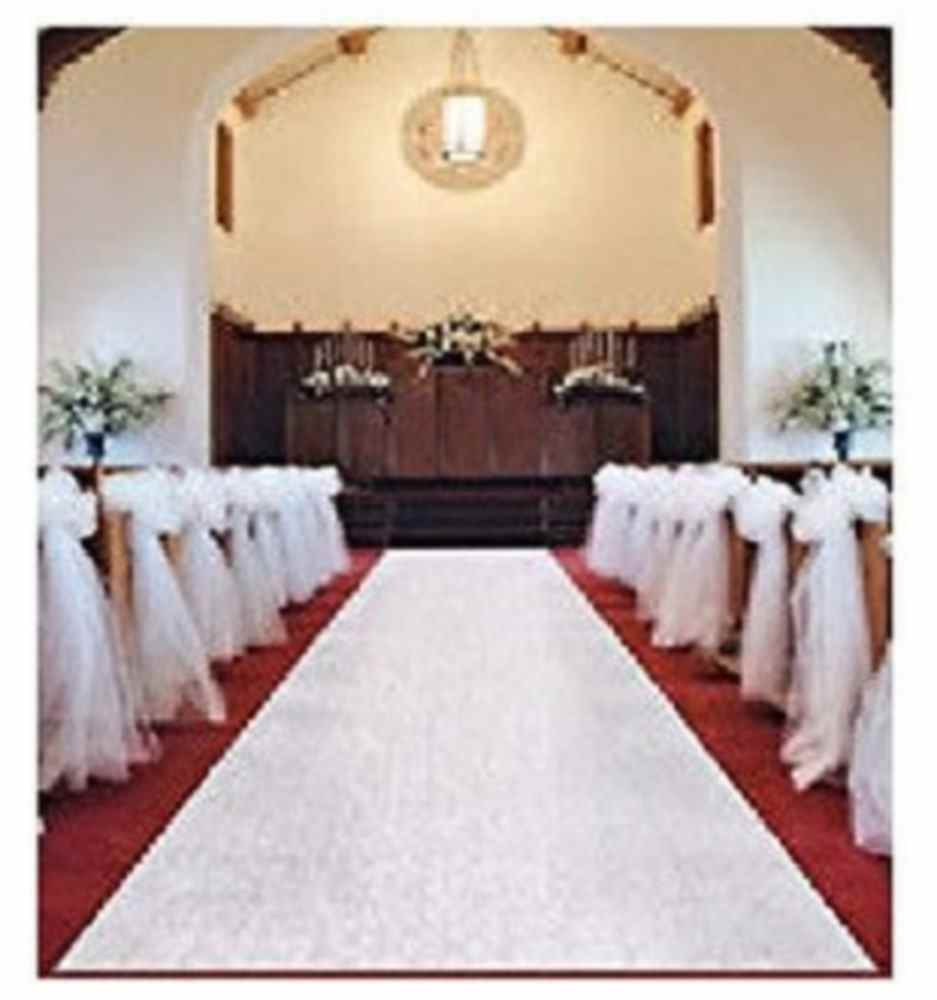 White Wedding Venue Aisle Runner Marriage Ceremony Party